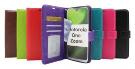 Crazy Horse Wallet Motorola One Zoom