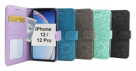 Flower Standcase Wallet iPhone 12 / 12 Pro (6.1)