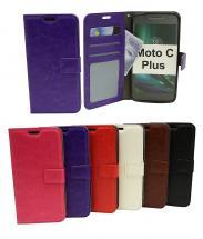 Crazy Horse Wallet Moto C Plus