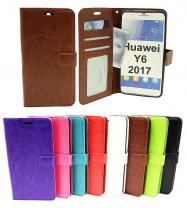 Crazy Horse Wallet Huawei Y6 2017 (MYA-L41)