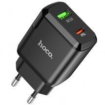 Hoco N5 Dual Lyn-oplader Vægadapter