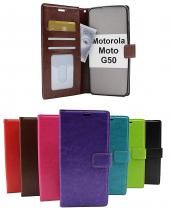 Crazy Horse Wallet Motorola Moto G50