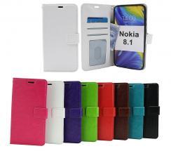 Crazy Horse Wallet Nokia 8.1